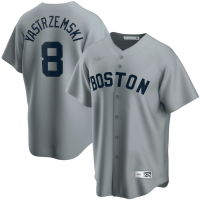 Men's Boston Red Sox Carl Yastrzemski #8 Nike Gray Road Cooperstown Collection Player Jersey