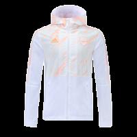 Arsenal Windbreaker Hoodie Jacket White 2021/22