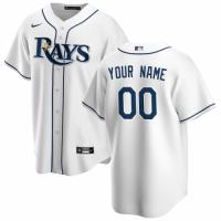Men's Tampa Bay Rays Nike White Home Custom Replica Jersey