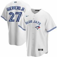Men's Toronto Blue Jays GUERRERO JR. #27 Nike White Home 2020 Replica Jersey