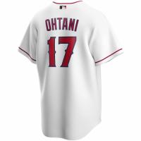 Men's Los Angeles Angels Shohei Ohtani #17 Nike White Home 2020 Replica Jersey